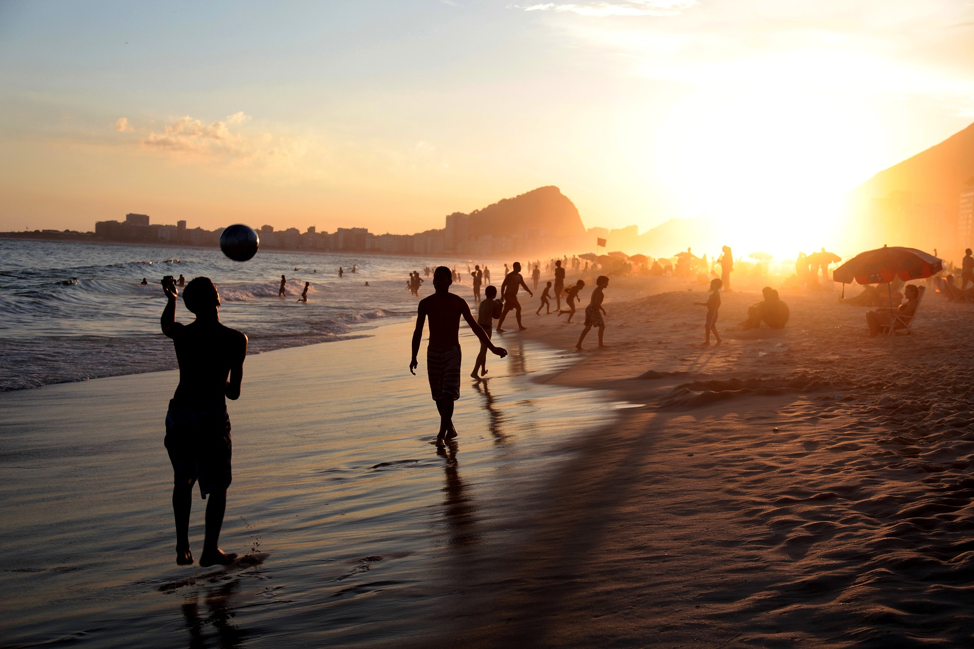 kids playing football in rio